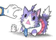 威嚇する酒匂ネコ
