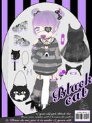 病みカワドール~black cat set~