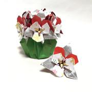 ★折り紙★ビオラ★クリスマスver.