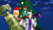 3人の女神「メリークリスマス!」