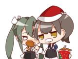 ターキーを無理やり食べさせる加賀さん。