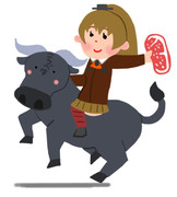 神戸牛をアピールするおしゃれな重巡洋艦のイラストです