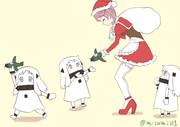 自分のキタコレ(北方棲姫これくしょん)にクリスマスプレゼントをあげる漣サンタ
