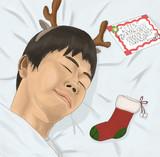 クリスマスプレゼントにワクワクしながら眠りにつくひで