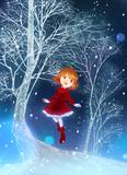 雪歩 冬の森