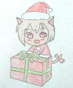 猫采希サンタがプレゼントを持ってきた