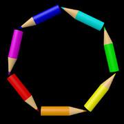 鉛筆の七角形