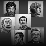 クトゥルフ神話TRPGシナリオ:「泡沫候補」登場NPC顔写真