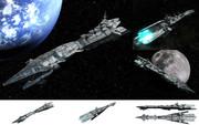 MMD用モブ宇宙巡洋戦艦2200セット