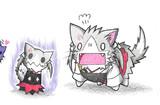 瑞鶴ネコとミミッキュ