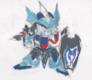 【水彩画】SDX騎士アレックス【未完成】