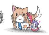 能代ネコと酒匂ネコ