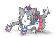 矢矧ネコと酒匂ネコ