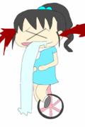 一輪車に乗ったら気分が悪くなっちゃった福山舞ちゃん