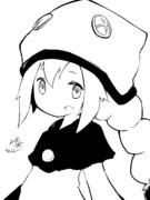 白と黒で描く リオナ
