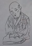 彫刻:良寛上人(作:平櫛田中)を模写