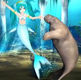 人魚姫とマナティ