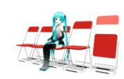 遠景用パイプ椅子