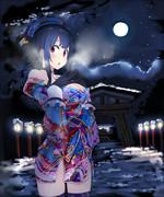 高雄さんと夜の月