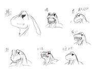 蛙の表情。