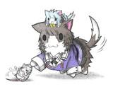 ネズミ提督と妙高ネコと初風ネコ