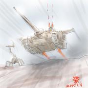 突撃砲戦車型陸戦MS「ガンタンク4」