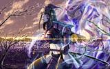 紫色甲冑娘・幽鬼
