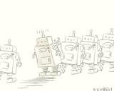 働きたくないという感情に目覚めてしまったロボットを描きました。