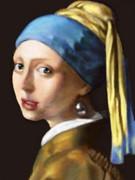 真珠の耳飾りの少女 模写