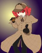探偵中のテトさん