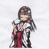 【切り絵】巫女さん