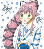 由良と雪うさぎ