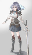 【本気絵】 女剣士