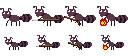 かわいい蟻のドット絵です。