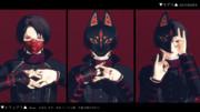 【MMDアクセサリ配布】狐面3種類