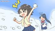 乾布摩擦してると雪合戦が始まったので参戦する深雪さま