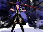 女子と軍刀