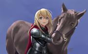 ウォースパイト様と馬
