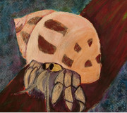 油絵風を目指したオカヤドカリ