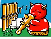 ウェザーニュース、ソライブ美術館1月18日分:お題「歌う人」