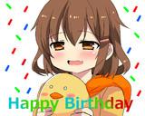 雷「HAPPYBIRTHDAY司令官!」