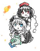 文(10)と妖夢(4)