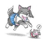 加賀犬と瑞鶴ネコ