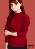 タートルネックセーター(模写) その2