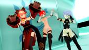 【Fate/MMD】ダンスでフィーバーする英霊(ラブラビッツ)達