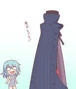 例のセーターを小傘ちゃんに