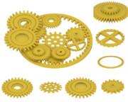 【3Dモデル】歯車セット【配布あり】