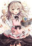 バレンタインに向けてチョコレートを手作りしようとする愛里寿ちゃん