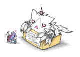 港湾棲姫ネコと酒匂ネコ