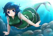 わかさぎ姫の遊泳